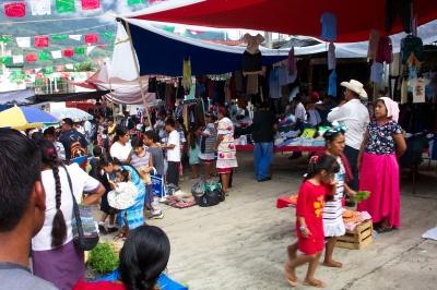 Mercado de domingos en Jalapa