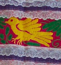 bordado de un pájaro