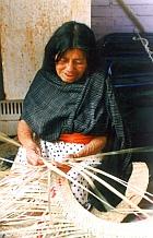 Making a palm mat