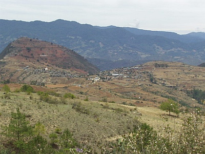 The town of Santa Ana Yareni