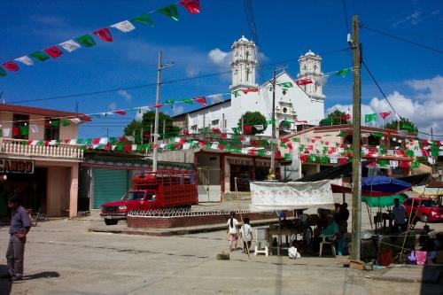The town center of Jalapa de Diaz