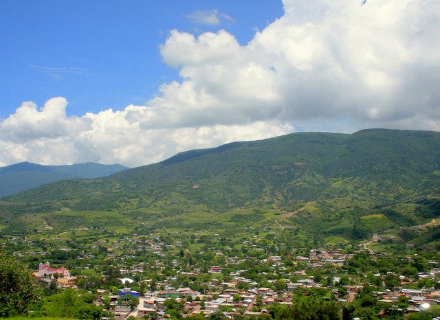 View of San Vicente Coatlán